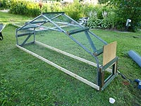 Framing Chicken Tractor - Mount Mobile chicken coop frame