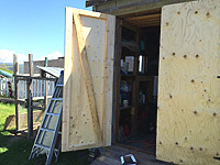 Construct ans install a Plywood Shed Door - Wooden shed